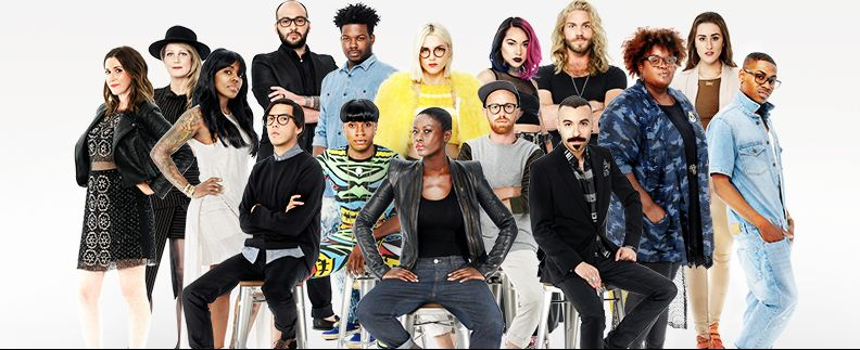 watch 39 project runway 39 season 15 episode 1 online judges welcome contestants with an. Black Bedroom Furniture Sets. Home Design Ideas
