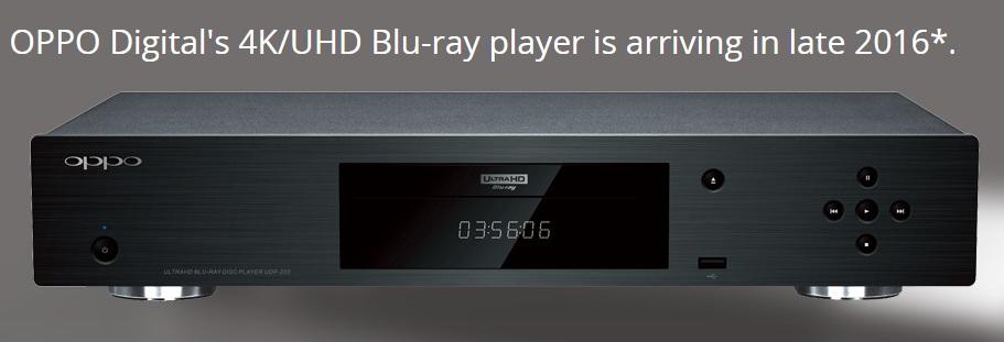 Oppo ultra hd blu ray
