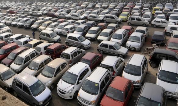 car sales traffic jam