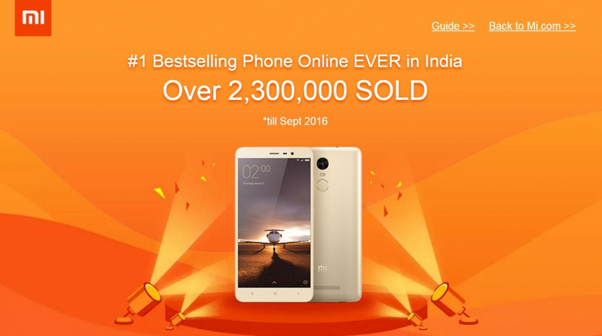 Xiaomi Redmi Note 3 Becomes Number 1 Best Selling