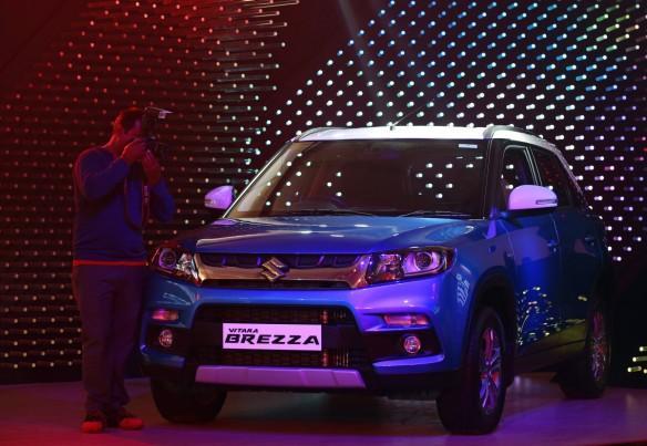 maruti suzuki cars domestic sales exports q2 september quarter results share price models vitara brezza s-cross alto ertiga baleno wagon r