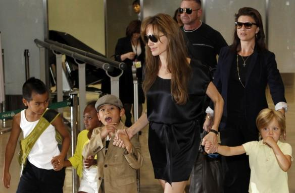 Angelina Jolie and her kids
