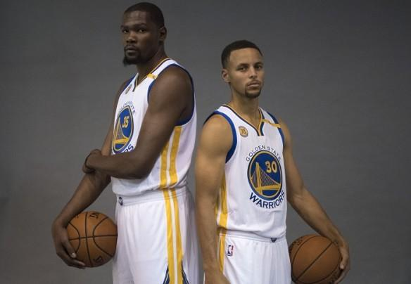 Golden State Warriors Kevin Durant Stephen Curry