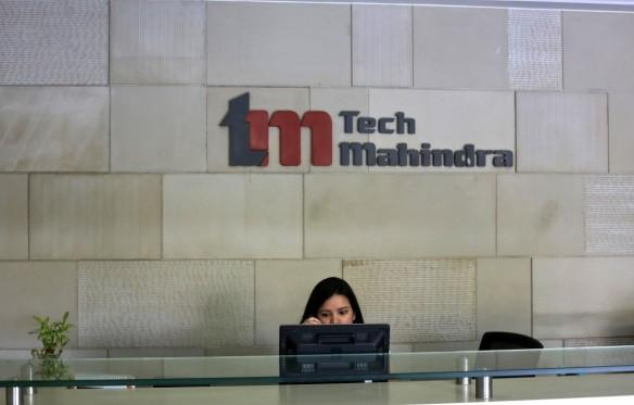 tech mahindra q2 results net profit share price revenues income operations margins nasscom growth it industry body projections estimate gurnani