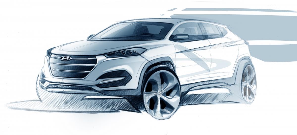 Hyundai india reveals design expressions of new tucson ahead of