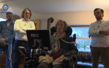 Paralysed ALS patient uses computer to speak with her mind