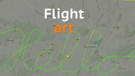 Pilots take sky writing to a whole new level with flight tracker art