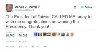 Donald Trump risks tensions with China in unprecedented talk with Taiwan
