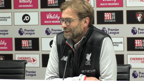 Jurgen Klopp: Clear who was the better side in todays match against Bournemouth