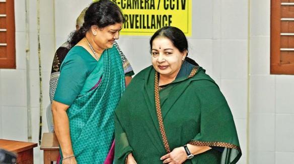 Jayalalitha with Sasikala Natarajan