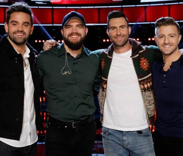 Adam Levine's team on The Voice USA 2016