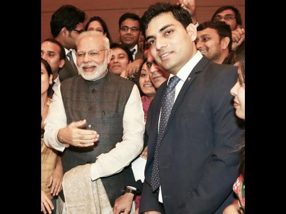 Sandeep Choudhary and Narendra Modi