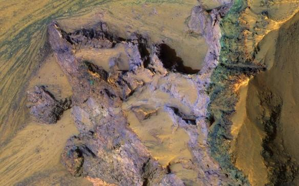 A colorful underlying bedrock discovered