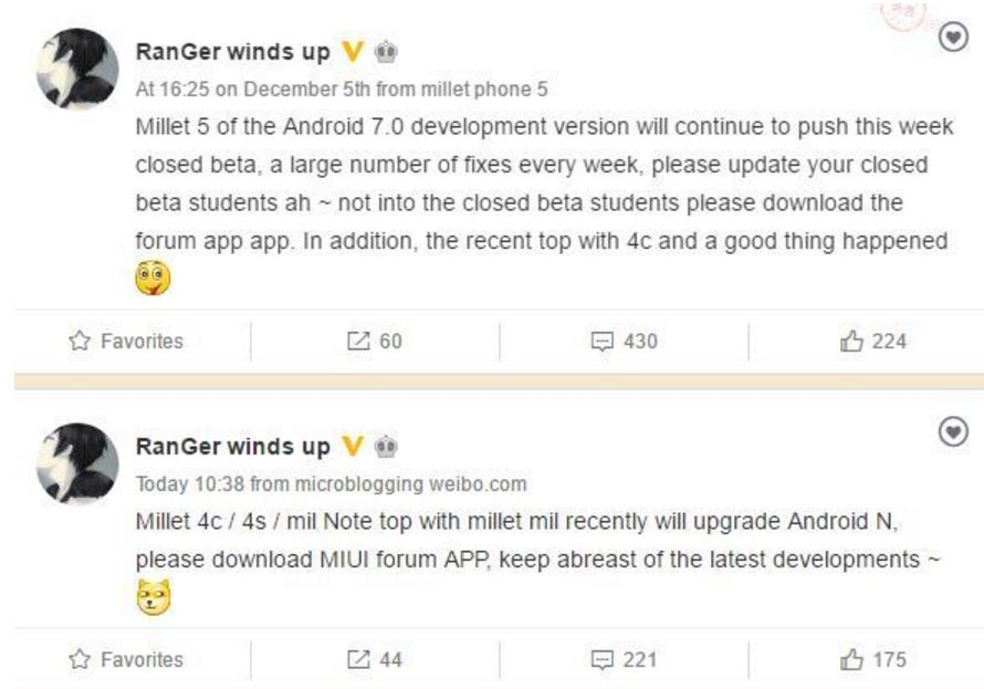Xiaomi Finally Rolls Out Nougat Update To The Redmi Note 4: Xiaomi's Android Nougat-based MIUI 9 Release Schedule