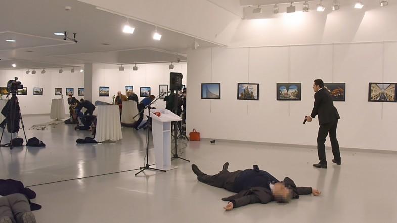 Russian ambassador to Turkey Andrey Karlov killed by assassin