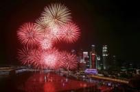 Fireworks in Marina Bay, Singapore