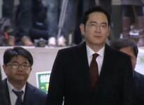 Samsung Group leader Jay Y. Lee arrives for bribery suspicion questioning