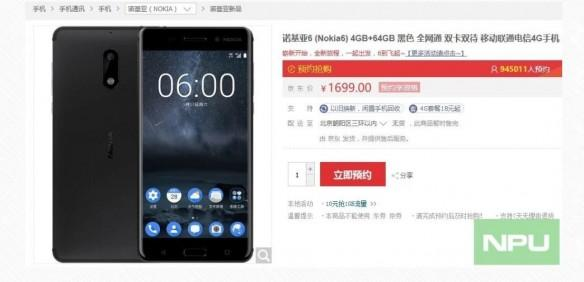 Nokia 6 registrations to break 1 million mark before sale