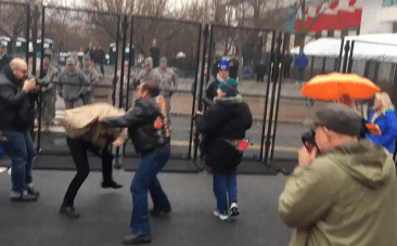 First fight erupts between Bikers for Trump and Disrupt J20 groups at inauguration