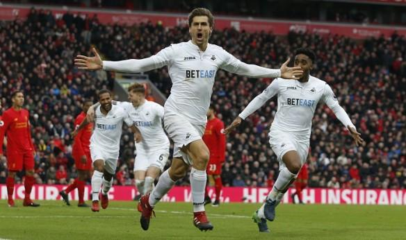 Fernando Llorente, Swansea City, Liverpool, EPL, Paul Clement