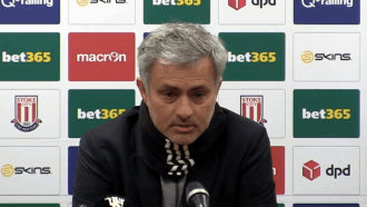 Jose Mourinho disappointed after Stoke City draw