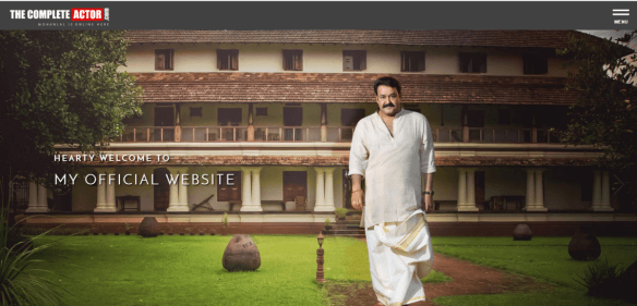 Mohanlal, The complete actor, Mohanlal website