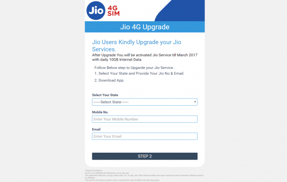 Reliance Jio offer site a hoax