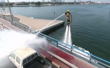 Dubai equips firefighters with water squirting jetpacks
