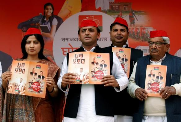 Samajwadi Party (SP) president and Uttar Pradesh chief minister Akhilesh Yadav