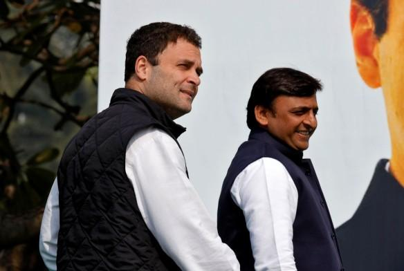 Congress Vice-President Rahul Gandhi and Samajwadi Party (SP) president and Uttar Pradesh Chief Minister Akhilesh Yadav