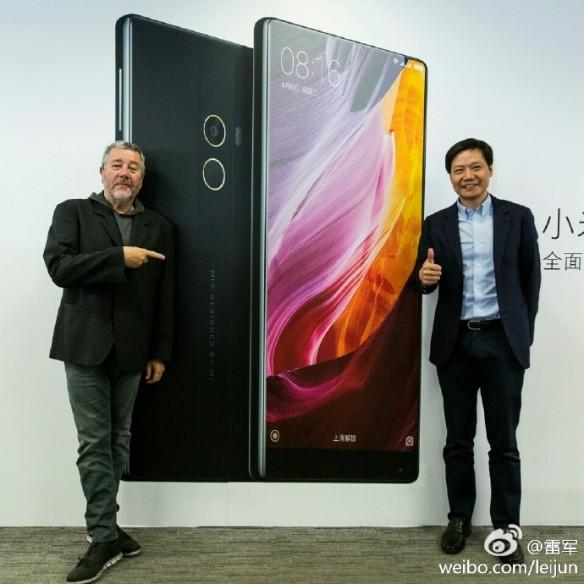 Xiaomi CEO Lei Jun with Philippe Starck