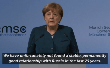 Relationship with Russia and free press emphasised in Merkels security conference speech