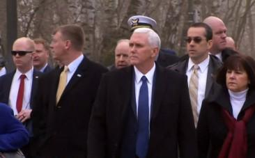 US Vice-President Mike Pence visits former Nazi concentration camp Dachau