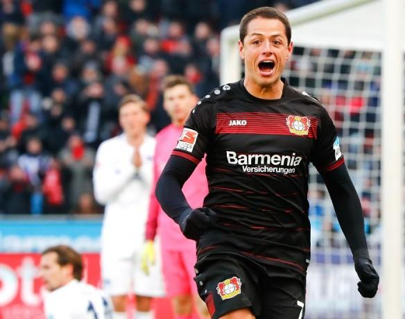 Javier Hernandez, Champions League, round of 16, Bayer Leverkusen, Atletico Madrid