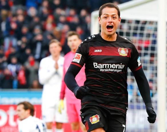 Javier Hernandez, Champions League, round of 16, Bayer Leverkusen, Atletico Madrid