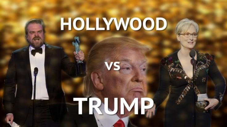 Hollywood vs Trump: Celebs use award show speeches to slam US president