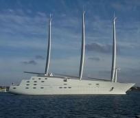 Russian billionaire, Andrey Melnichenko 's super yacht