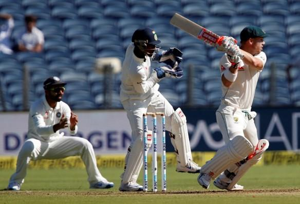 David Warner, Australia, Wriddhiman Saha, India, first Test