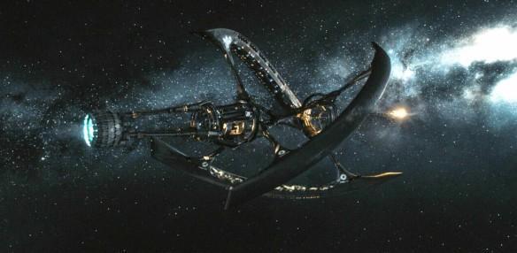 Passengers film, spaceship