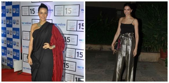 Neha Dhupia and Deepika Padukone