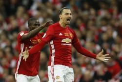 Zlatan Ibrahimovic. EFL Cup final, Zlatan Ibrahimovic's goals, Manchester United, Southampton,