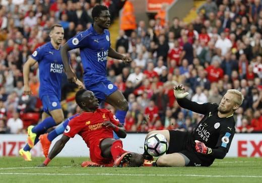 Leicester City, Liverpool, Sadio Mane, Kasper Schmeichel, Premier League