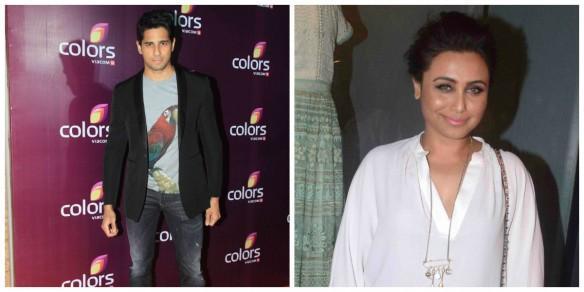 Sidharth Malhotra and Rani Mukerji