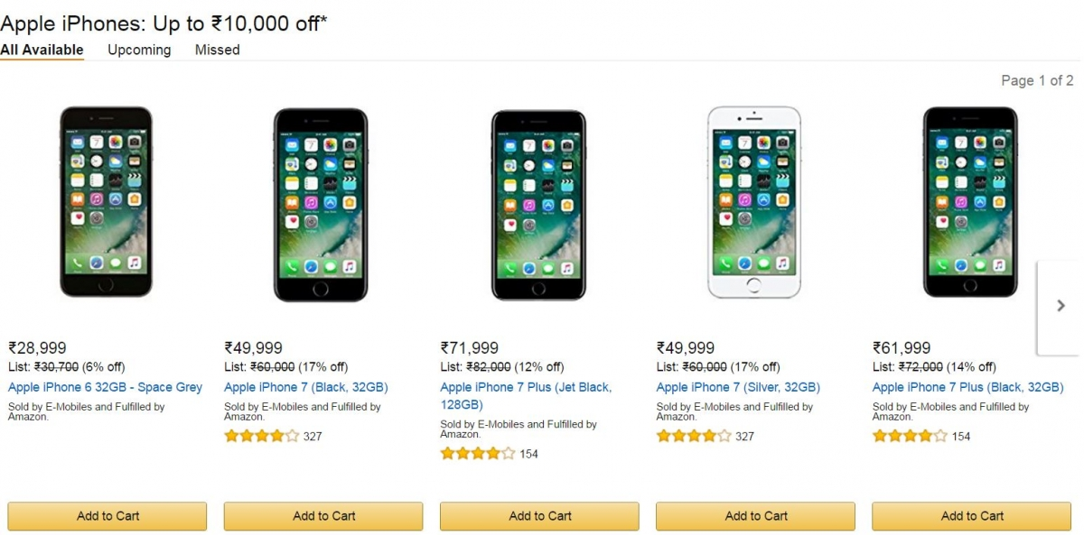 Apple IPhone 7 Deal Alert Amazon India Offers More Than Rs 20000 Cash Discount On Select Models