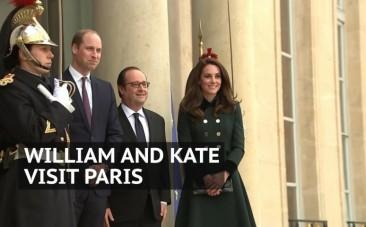 Duke and Duchess of Cambridge on first official visit to France