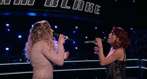 Ashley Levin and Casi Joy perform on The Voice USA 2017 Season 12