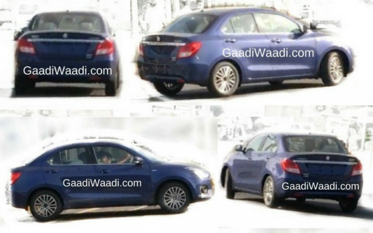 2017 Maruti Suzuki Swift Dzire spied undisguised for 1st time