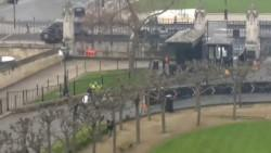 Police seen tackling a man outside UK Parliament during firearms incident