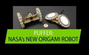 Nasa unveils origami robot
