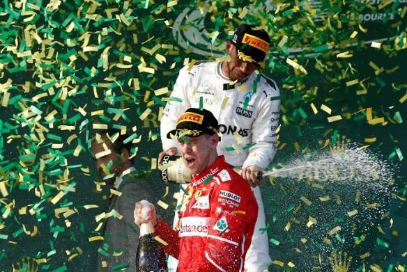 Sebastian Vettel, Australian GP 2017, Lewis Hamilton, Ferrari